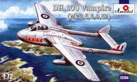 De Havilland DH.100 Vampire Mk.3,5,6,9,52 - 1/72 Scale