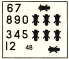 SAAF Black Numbers & Feet Decals - 1/48 Scale