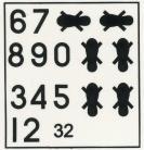 SAAF Black Numbers & Feet decals