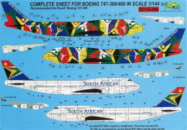 Boeing 747-300-400 South African Airways - 1/144 Scale