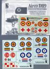 Airco DH9 Decals -  1/72 Scale
