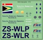 South African Airways Harvards - 1/72 Scale