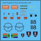 SAAF Aloutte III Stencilling Post 1994 - 1/48 Scale