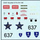 SAAF Alouette III 637 Stencilling - 1/48 Scale