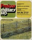 Barbed wire and stakes - H/0 Gauge