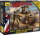 """US M-47 """"Dragon"""" Anti-tank Missile System with crew - 1/72 Scale"""